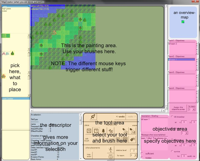 augmented screenshot of the mapcreator