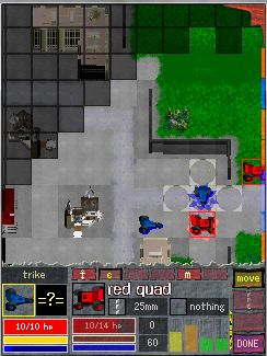 screenshot of a mission in the tank-campaign